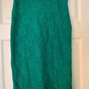 Anthropologie Turquoise Business Skirt Small